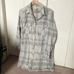Wilfred free plaid tunic button up
